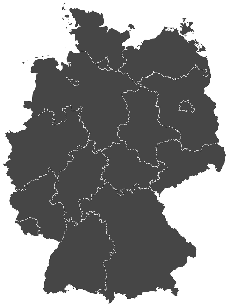germany, silhouette, regions