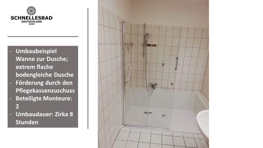 Projekt Badewanne zur Dusche I