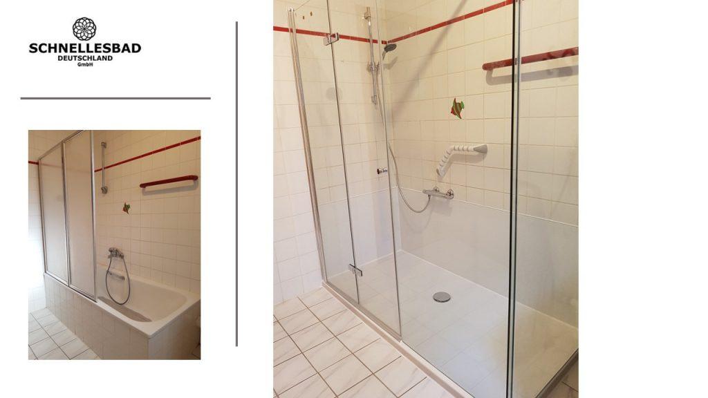 Wanne zur Dusche - Umbau