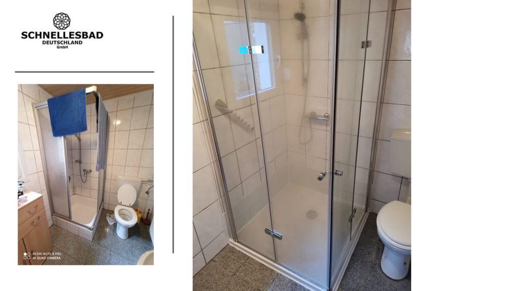 Umbau zur bodengleichen barrierereduzierten Dusche