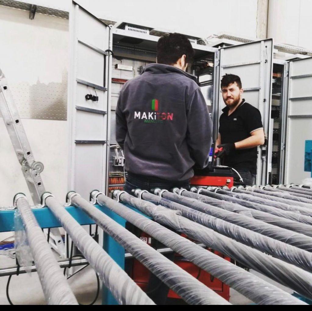 Bearbeitung ESG Floatglas - Brennvorgang