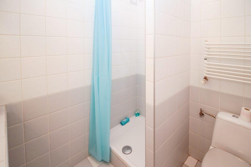 Neue Dusche